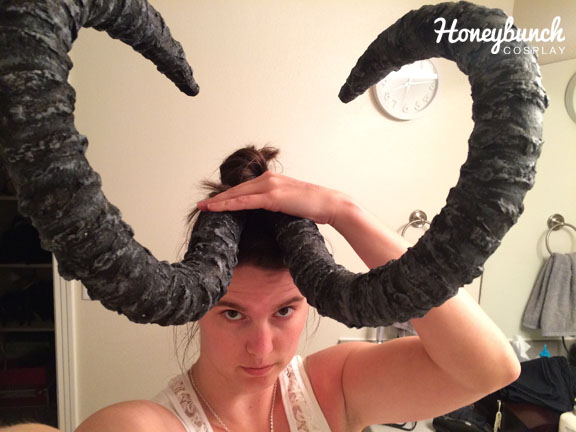Once dry, your horns are now complete!