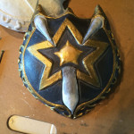 Painted shield (Gesso version in top left)